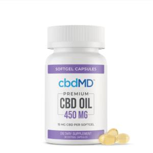 CBDMD CBD Oil Softgel Capsules 450MG Product Image 1
